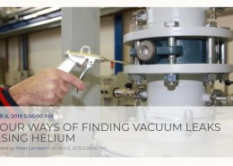 How do you perform a helium leak test on a vacuum furnace?