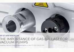 What is a gas ballast valve on a vacuum pump?