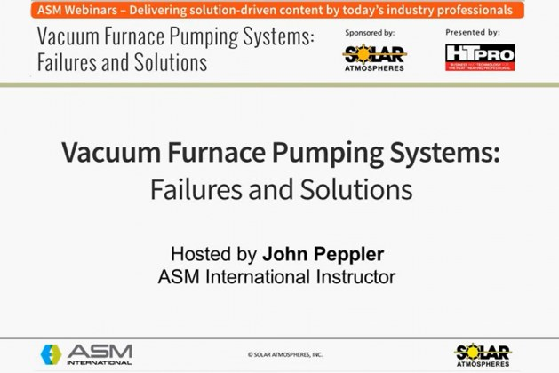 What are some vacuum furnace pumping system failures and their solutions?