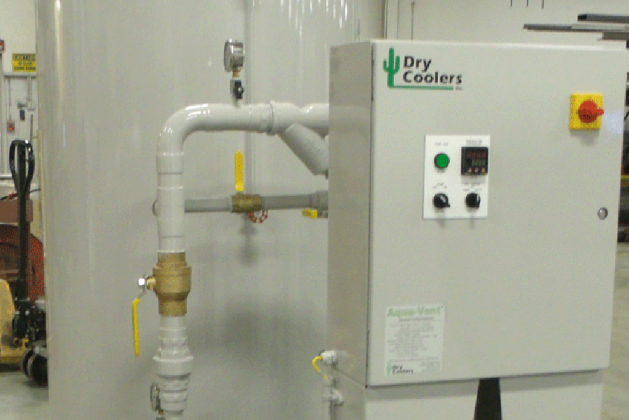 When does an air-cooled system make sense over a cooling tower evaporative water cooling system?